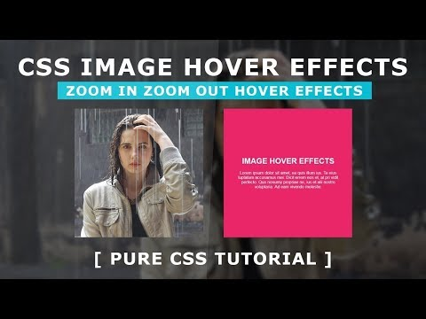 Online Tutorial for Image Zoom in Zoom Out Hover Effects in CSS With Demo thumbnail