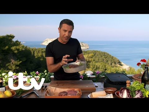 Gino's Italian Coastal Escape | Steak Tagliata With Pear, Walnut And Gorgonzola Salad | ITV