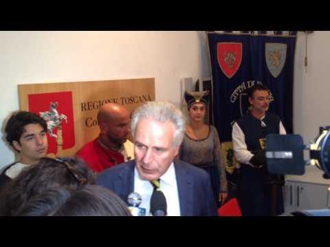 Palio di Pescia presentato in Consiglio Regionale della Toscana da Eugenio Giani - AGIPRESS