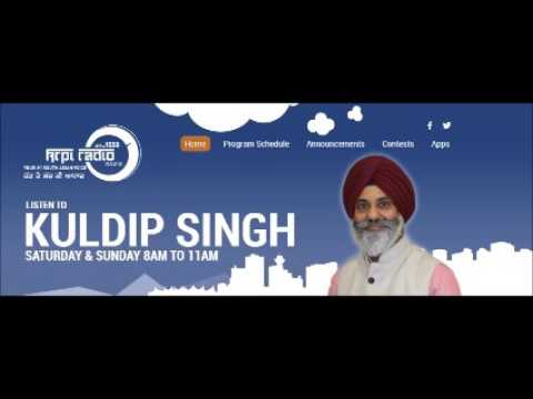 Rajinder Singh Khalsa In Dilan Di Saanjh Show With Kuldip Singh On KRPI 1550 AM