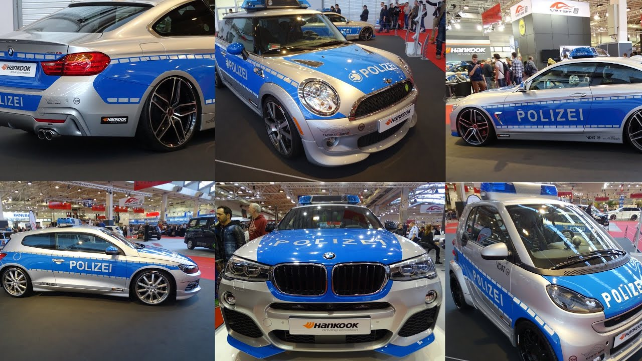 police car tuning polizei auto germany deutschland essen motorshow 2014 youtube. Black Bedroom Furniture Sets. Home Design Ideas
