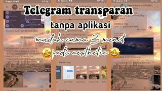 CARA MEMBUAT TEMA TELEGRAM TRANSPARAN 🌞 screenshot 4