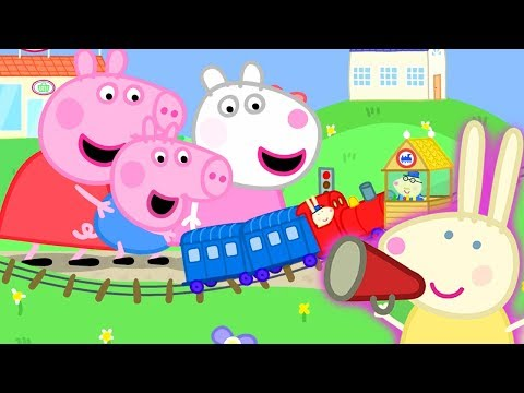 Peppa Pig Official Channel   Peppa Pig Meets Mini Miss Rabbit at the Tiny Land