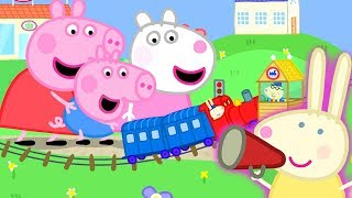 Download Peppa Pig Official Channel | Peppa Pig Meets Mini Miss Rabbit at the Tiny Land Mp3 and Videos