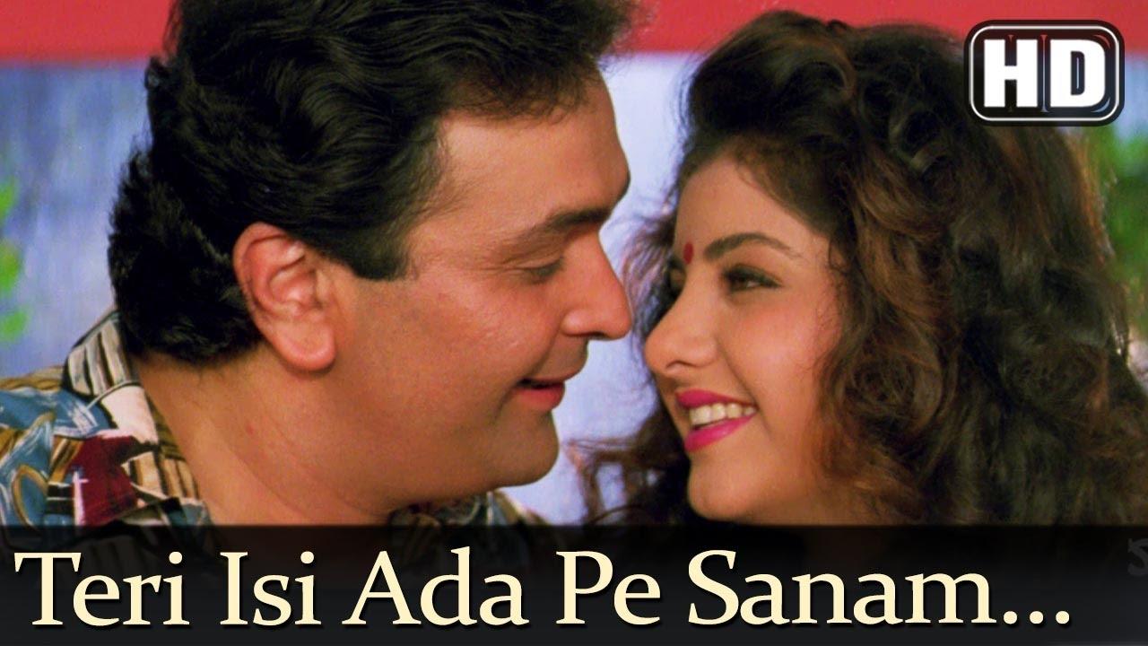 Download Teri Isi Ada Pe Sanam (HD) - Deewana Song - Shahrukh Khan - Rishi Kapoor - Divya Bharti