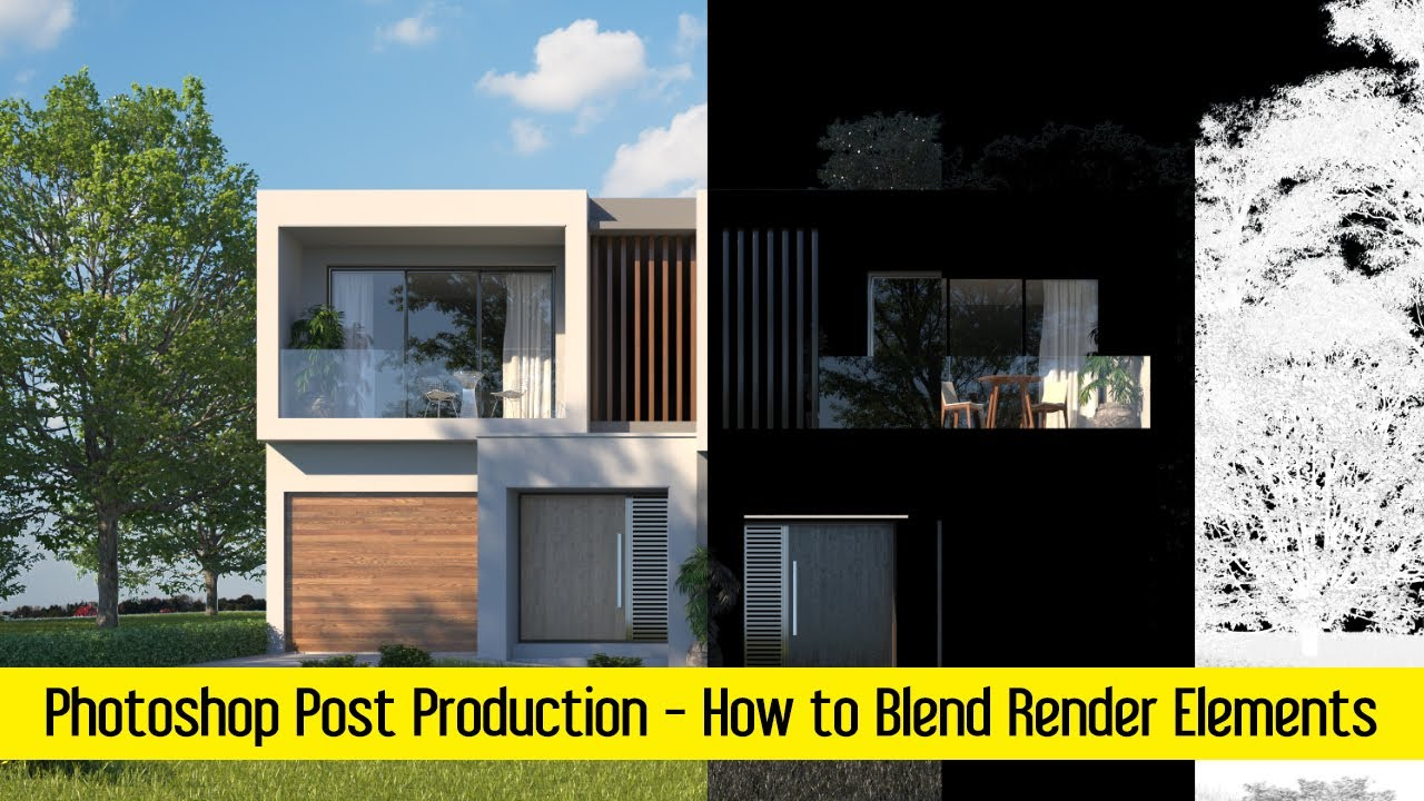 Post production in Photoshop | How to Blend Render Elements