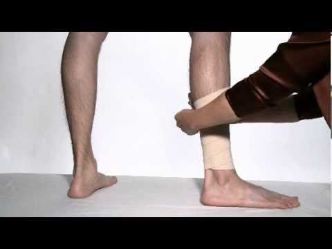 How To Wrap A Leg With An Ace Brand Elastic Bandage Youtube