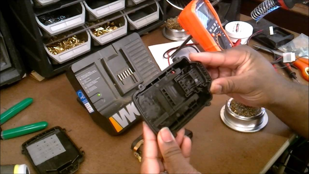 Worx Lithium 18v Battery Investigation And Repair