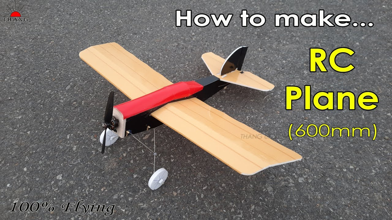 Download How to make Remote Control Airplane at home (600mm)