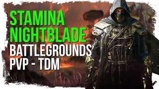 ESO Stamina Nightblade Deathmatch Battlegrounds (No Death Match)