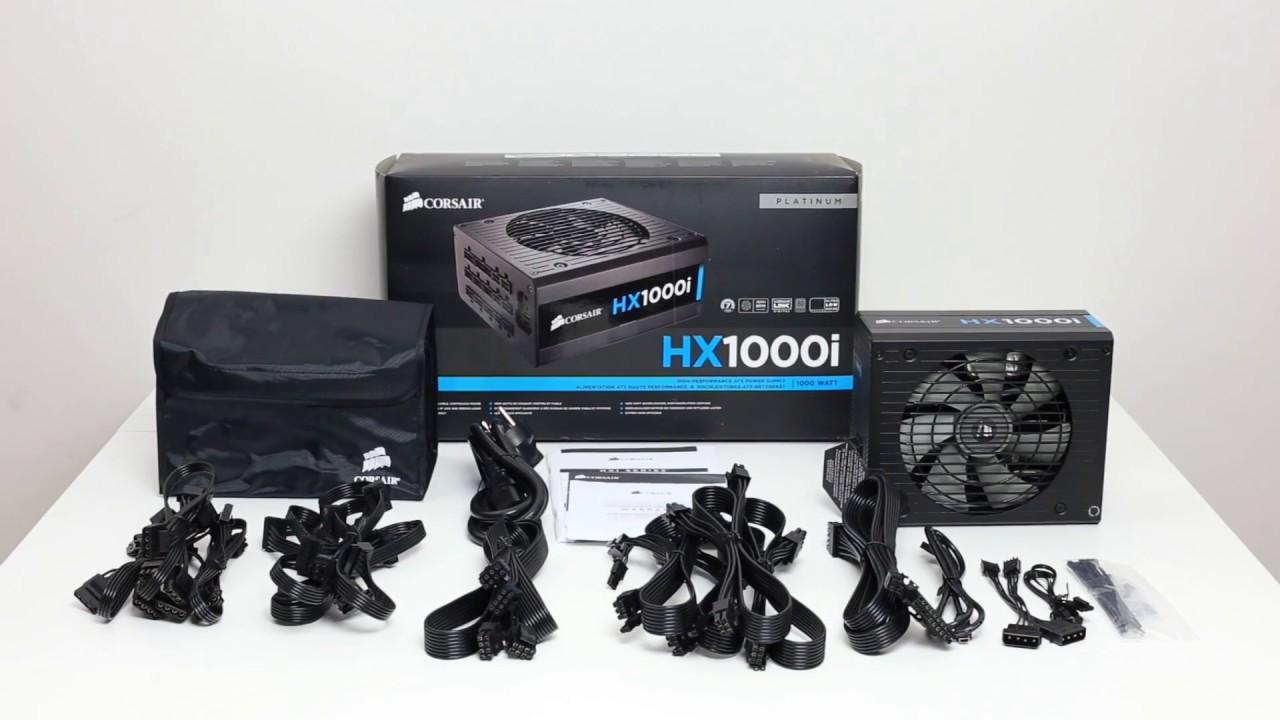 Corsair HX1000i Kutu Açılımı, Kurulum - YouTube