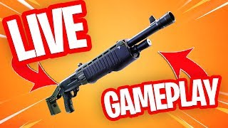 GIFTING IS FINALLY THERE!! WINNING JARS WITH THE LEGENDARY PUMP SHOTGUN!! Fortnite Battle Royale Live