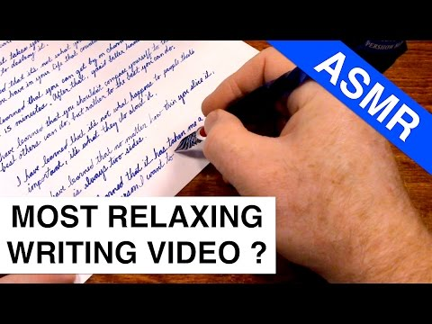 ASMR Most Relaxing Writing Video Ever Made