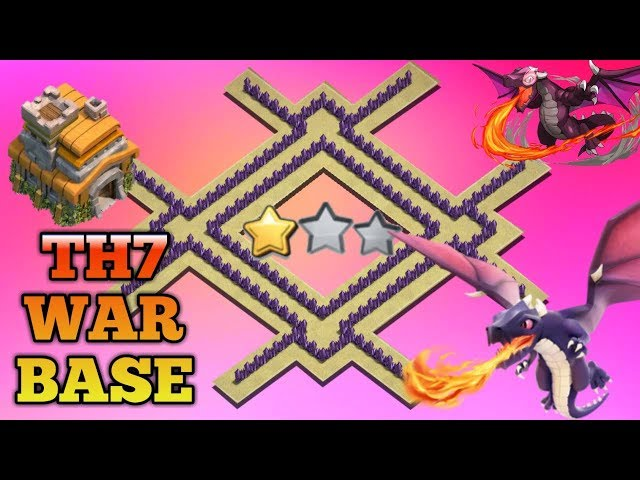 Best Th7 War Base 2018 Anti Dragon Anti Hog Anti 3 Star Anti 2 Star With 3 Air Defense