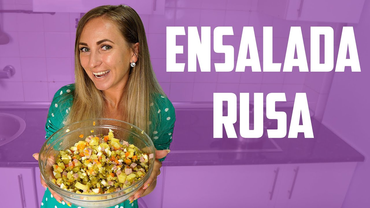 🇷🇺CHICA RUSA prepara ENSALADA RUSA ORIGINAL | RECETA de COCINA RUSA