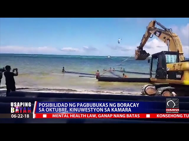 Posibilidad ng pagbubukas ng Boracay sa Oktubre, kinuwestyon sa kamara