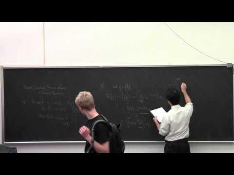 Math 139 Fourier Analysis Lecture 26: Radial symmetry and Fourier transform.  Radon transform.