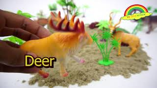 Learning Wild Animals Names and Sounds for Kids | Wild Animals Toys | Making Wild Animals Forest