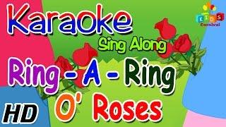 KARAOKE Ring a Ring o' Roses - Sing Along with Subtitles (Lyrics) & Music - Nursery Rhyme