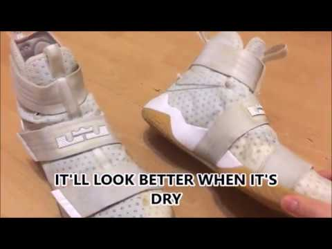 17cba598b6816 LEBRON SOLDIER 10 CLEANING (White Gum) - YouTube