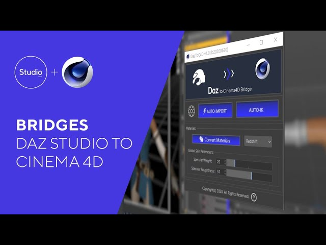 Daz Bridges Tutorial - Daz to Cinema 4D