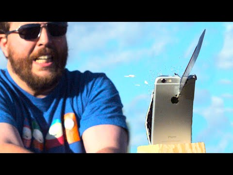 Can a Battle Forged Katana Slice iPhone 6 in Half? - GizmoSlip