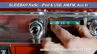 Custom Autosound Slidebar Radios & The System Hidden Subwoofer Video