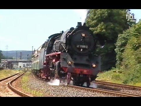 Mit Dampf von Meiningen nach Eisenach / Regional-Express mit Dampflok 41 1185-2