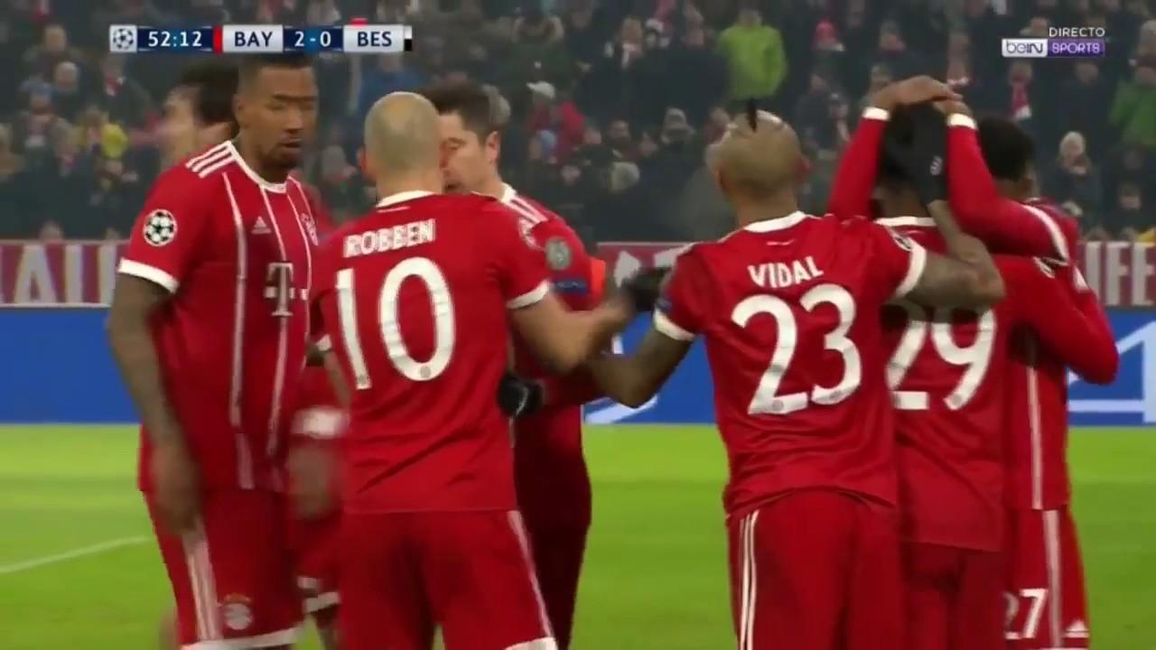 Bayern Münih 5 - 0 Beşiktaş | UEFA Şampiyonlar Ligi Maç Özeti (YABANCI)