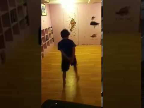 8 year old boy acrobat to Black & Gold