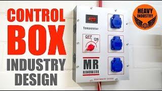 Control Box im Industrie Design mit Temperatur-Anzeige (deutsch/german)