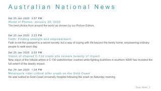 National News Headlines for 25 Jan 2020 - 6 PM Edition