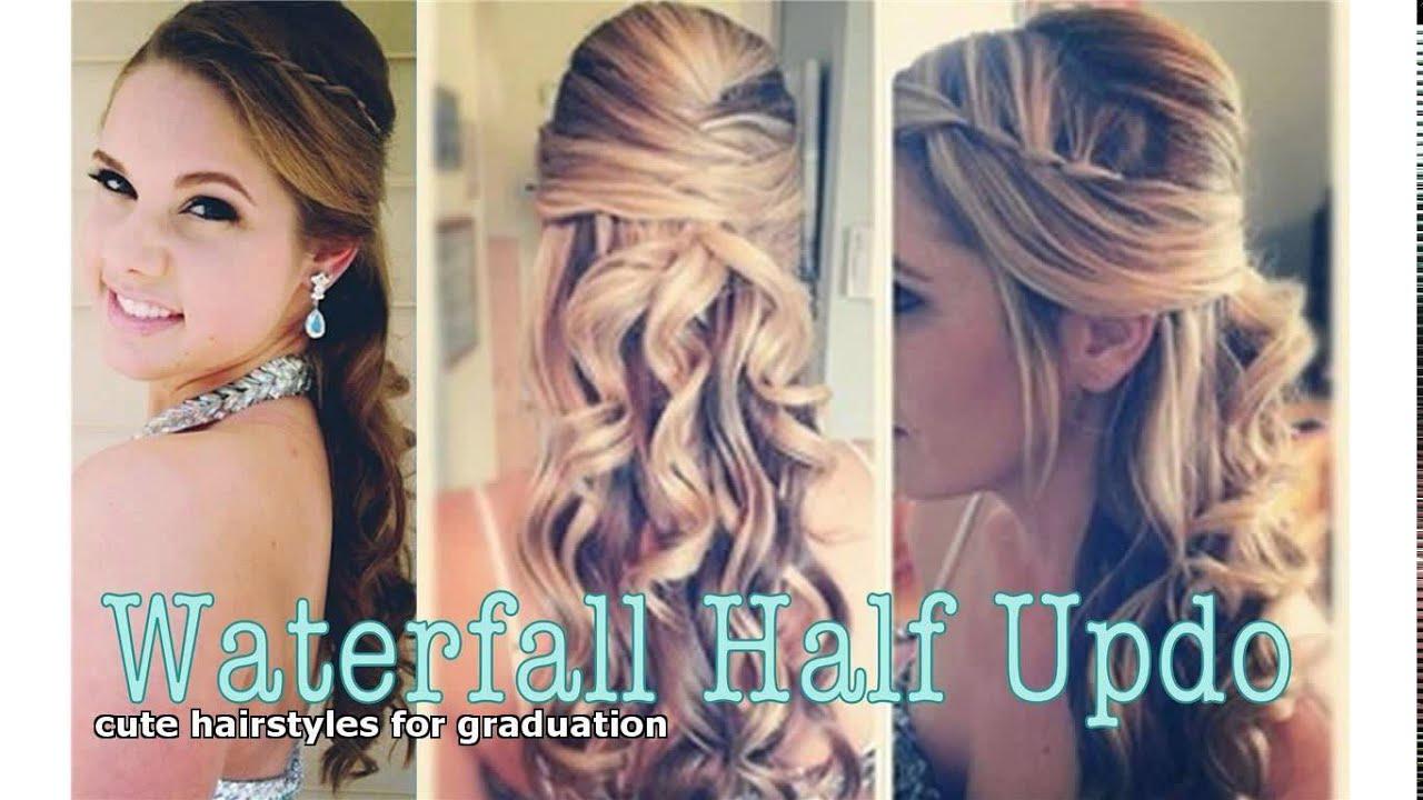 cute hairstyles graduation