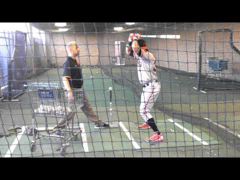 Angel Pagan In Batting Cage Before Rehab Start