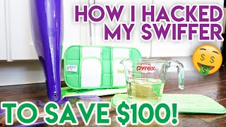 💚 SWIFFER HACKS TO SAVE YOU MONEY! ✨ CLEAN WITH ME 💵 HOW I SAVED $100 ON MY SWIFFER IN 6 MONTHS