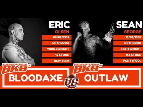 SEAN GEORGE VS ERIC OLSEN - BKB2 MIDDLEWEIGHT BARE KNUCKLE FIGHT * EXCLUSIVE *