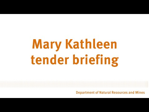 Mary Kathleen Competitive Cash Tender Briefing Session.