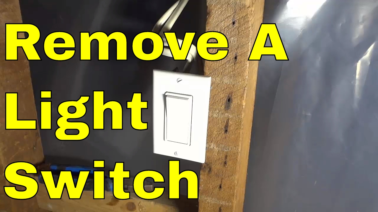 How To Remove A Light Switch Diy Electrical Youtube Wire And Outlet