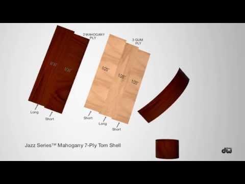 DW Jazz Series™ (Mahogany/Gum) Shell Animation