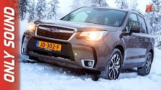 NEW SUBARU FORESTER 2017 - FINLAND SNOW TEST DRIVE ONLY SOUND