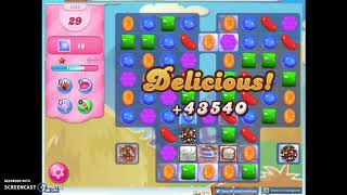 Candy Crush Level 1583 Audio Talkthrough, 2 Stars 0 Boosters