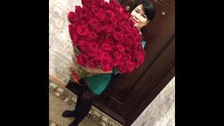 видео 101 роза. Купить букет с доставкой по Казахстану из 101 розы