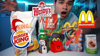 TRYING EVERY FAST FOOD KIDS MEAL!!! *WAIT TILL THE END*