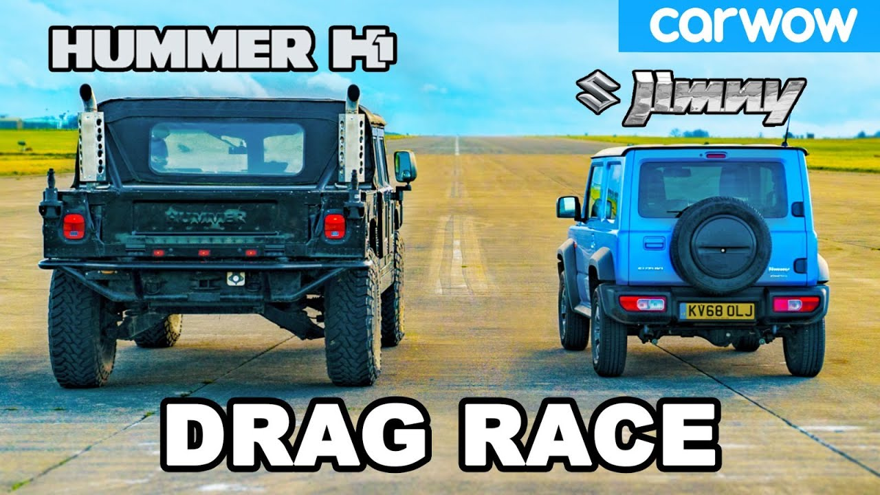 Hummer H1 vs Suzuki Jimny - DRAG RACE *USA ?? vs Japan ?? *