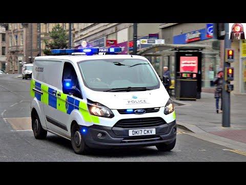 Police Dogs: Merseyside Police Van Responding Lights and Sirens
