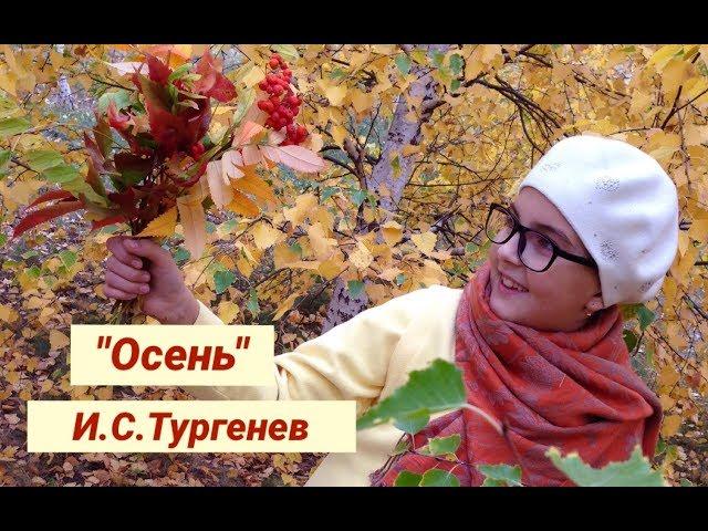 Изображение предпросмотра прочтения – МарияЩенникова читает произведение «Осень» И.С.Тургенева