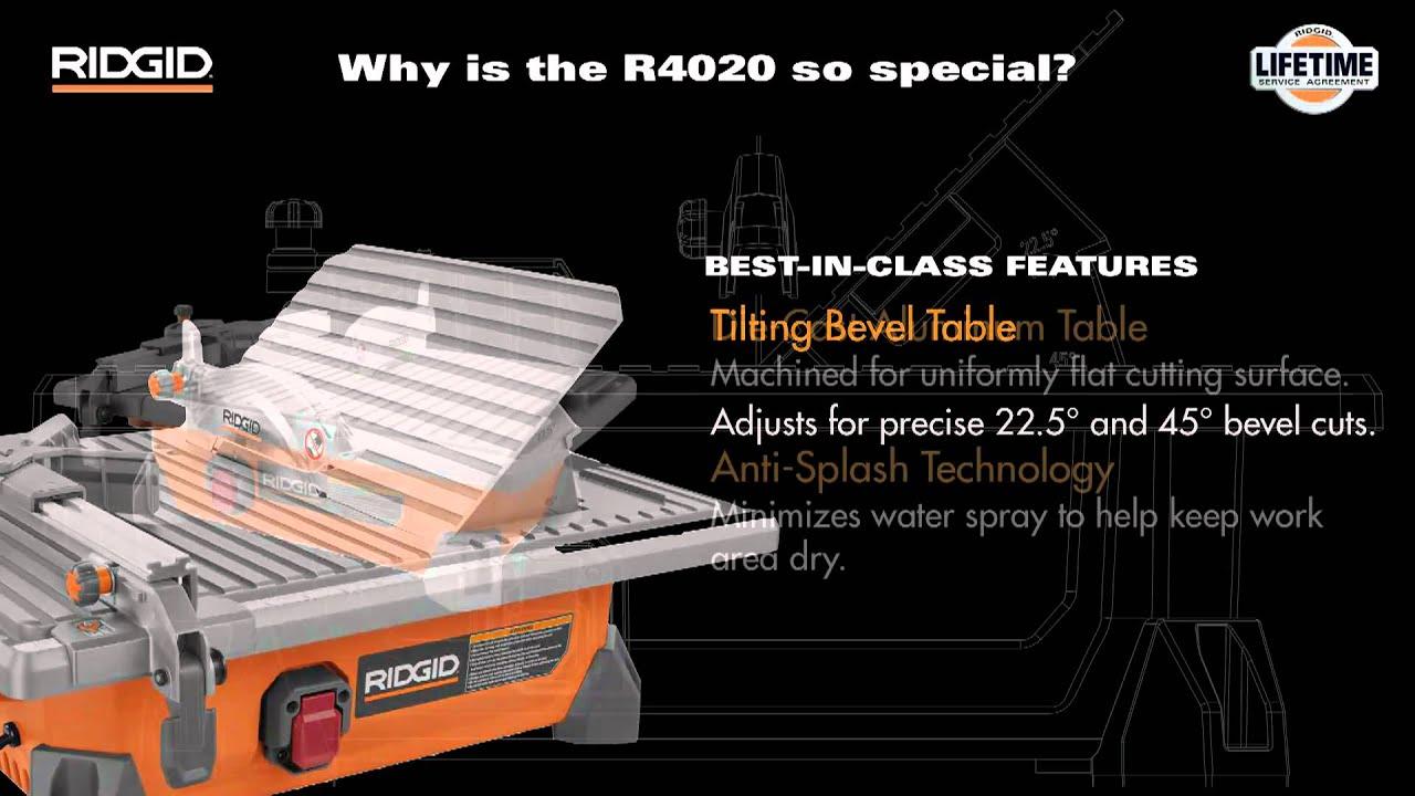 r4020 7 ridgid portable job site wet tile saw
