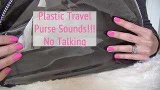 ASMR * Theme: Plastic Travel Purse * Tapping & Scratching * Crinkling * No Talking * ASMRVilla
