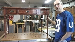 Sheraton Writing Desk - Applying The Finish And Hardware