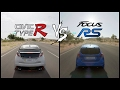Honda Civic Type R Vs Ford Focus RS Acceleration , Top Speed & HOT LAP!
